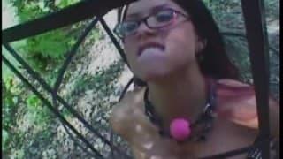 Eva Angelina in gabbia