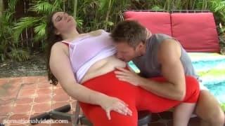Sperma sullo stomaco di Joslyn Underwood