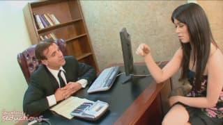 Ashlyn Rae la sexy segretaria di Claudio