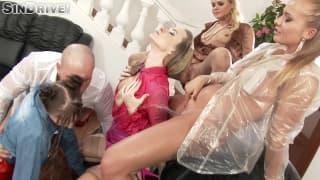 Una scena di sesso di gruppo da paura