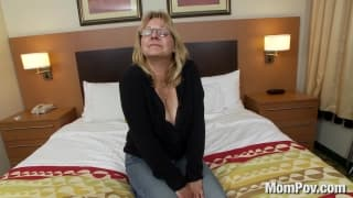 Una bellabionda milf in POV