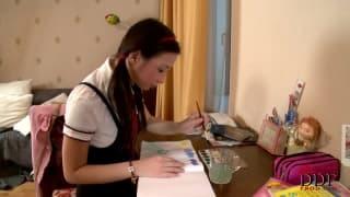 Marizza una studentessa in video