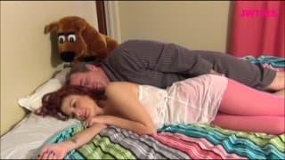 Jessica Robbin insieme a un uomo maturo