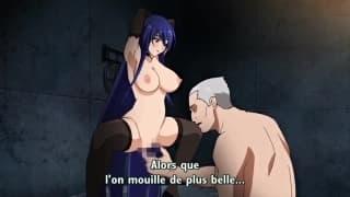 Taimanin Yukikaze un hentai episodio 2