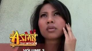 Donna asiatica molto pelosa