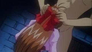 Una ragazza hentai con un cazzo in bocca