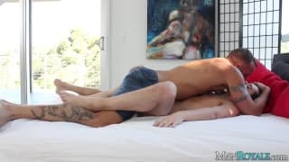 Chase Young insieme a Derek Parker