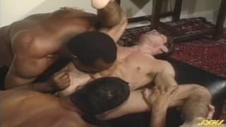 Johnny Rahm con Bob Decker e Bill Carson